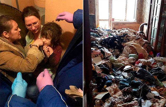 Вистинска хорор приказна: пронашле гладно и напуштено петгодишно девојче во стан полн со ѓубре и лебарки – не знае да зборува, а полицијата морала да влезе со скафандери