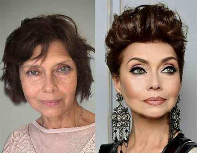 Неверојатни фотографии од жени пред и по шминкање