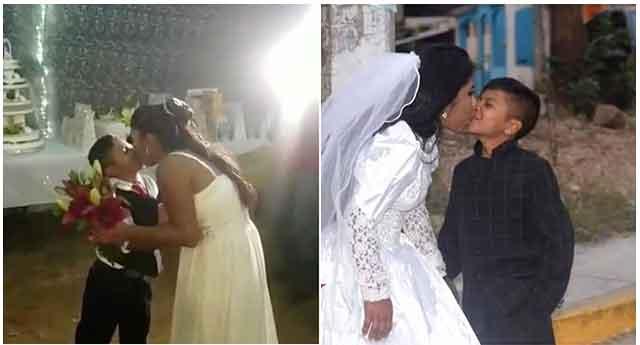 Невеста и младоженец го згрозија целиот свет со фотографиите од свадбата – сите се прашуваат колку години има момчето, но набргу стигна и објаснувањето