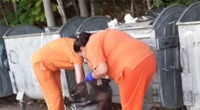 """Инспектори на Град Скопје ги фатија живи вработените во """"Ремедика"""" како фрлаат медицински отпад на недозволено место"""
