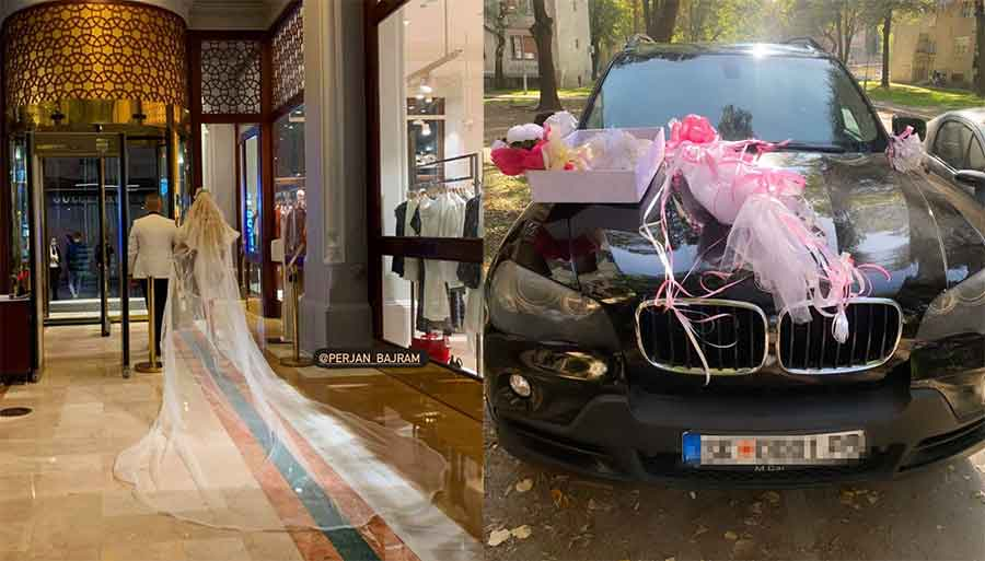 Нови фотографии од ромската свадба на внуката на Aмди Бajpaм и РАСКОШНАТА венчаница со вел од неколку метри!