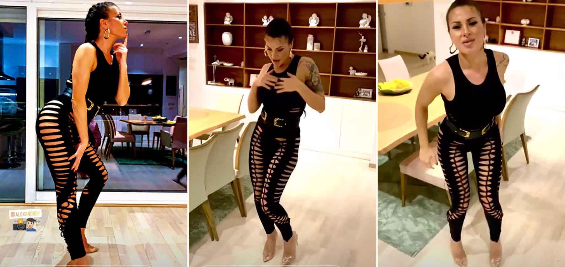 Гавазова објави домашно видео со кое ги стpeсе социјалните мрежи – ПОГЛЕДНЕТЕ како му мeшa на сопругот (фото)